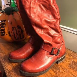 Frye Deep Red Leather boots 7B